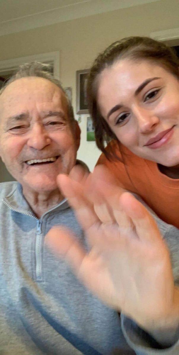Domenico Barilaro with his granddaughter Domenica