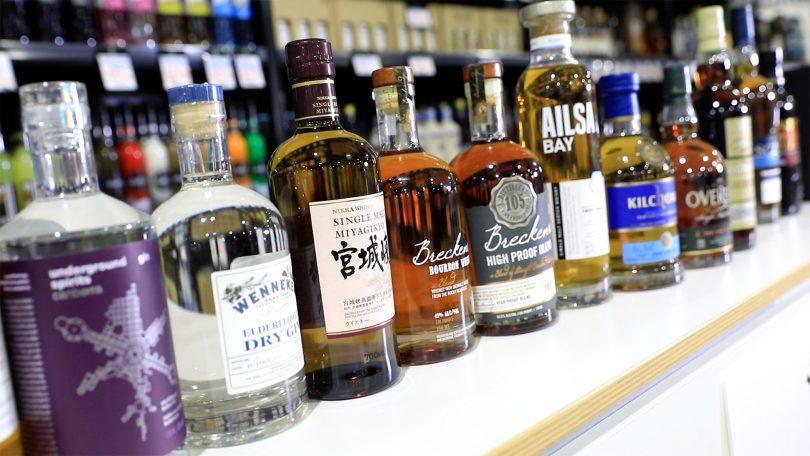 Spirits at Farrah's Liquor Collective