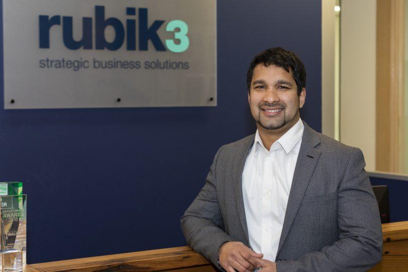 Kirk Fonseca at Rubik3 office.