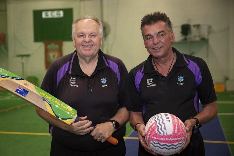 Con and Tony Floros at Weston Indoor Sports.