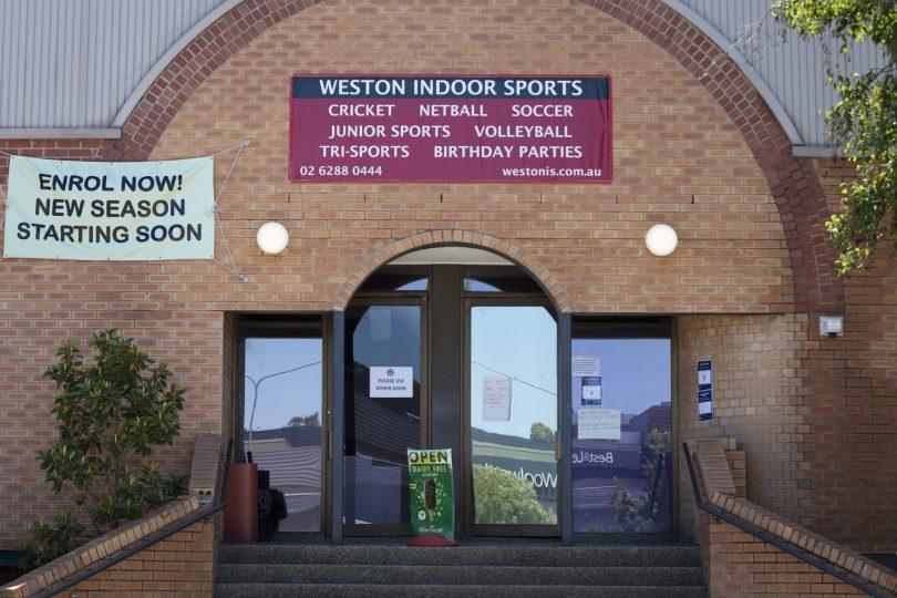 Exterior of Weston Indoor Sports complex.