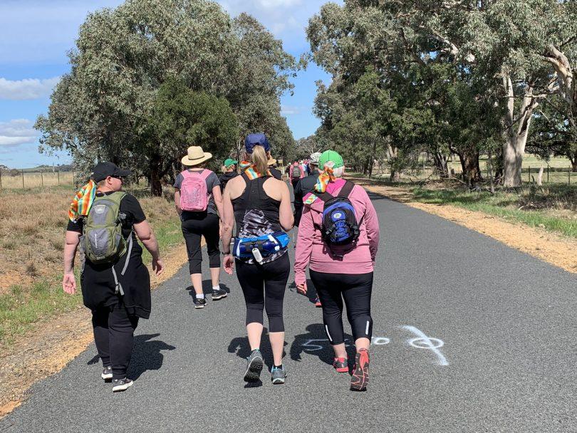 Mercy Walk participants