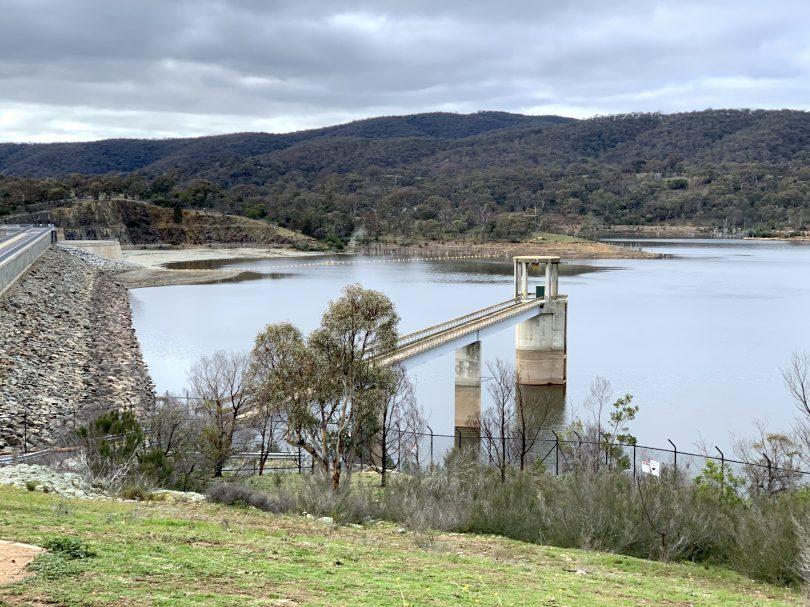 Googong Dam on Tuesday, 11 August