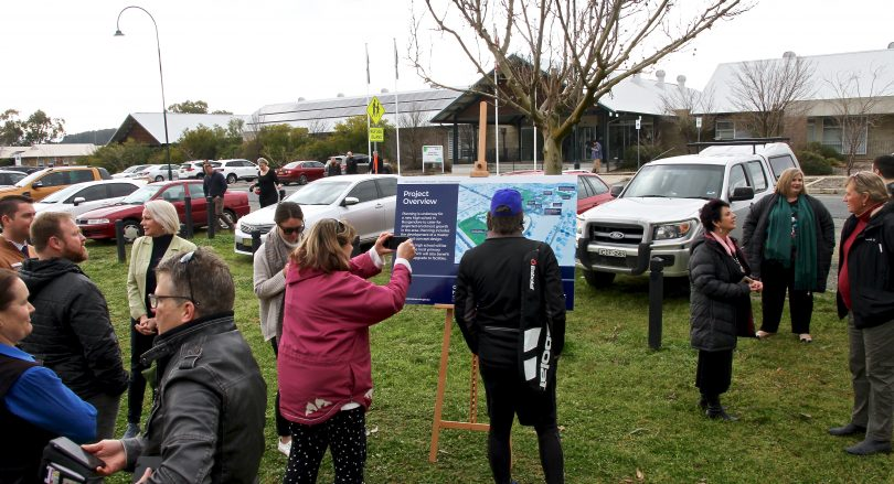 Residents of Bungedore gathered to discuss the proposed high school at Mick Sherd Oval.