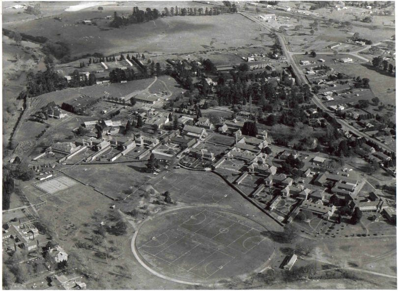 Aerial view of Kenmore Hospital site.