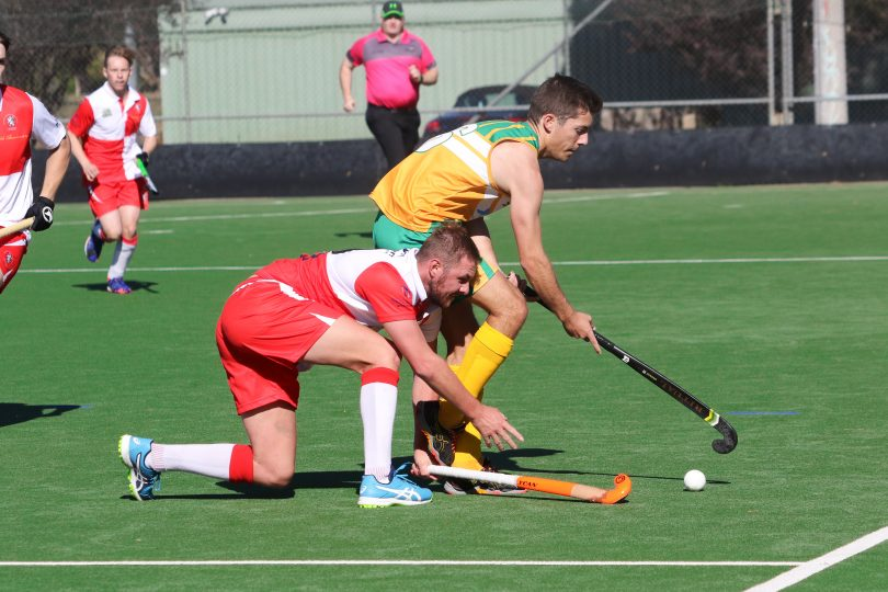 Albury-Wodonga Spitfires player in action.