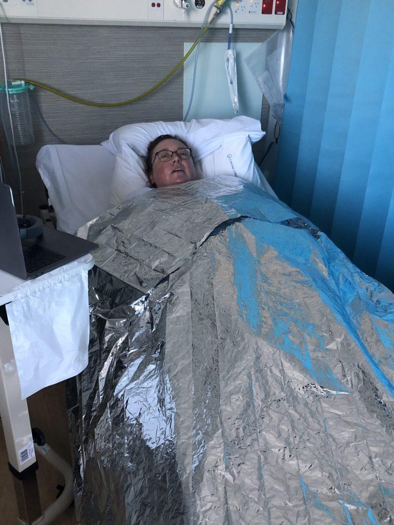 Kylie Johnson in hospital