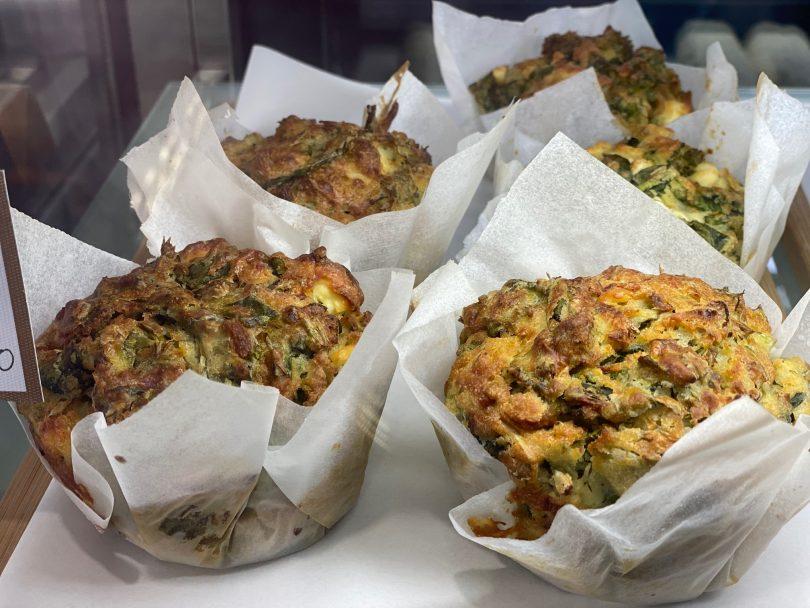 Homemade Greek muffins at Emporium Espresso.