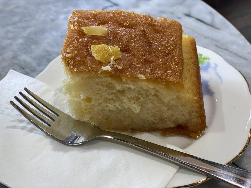 Lemon cake from Emporium Espresso.
