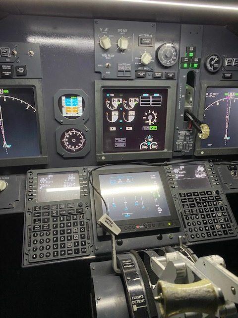 Boeing 737-800 instrument panel at Jet Flight Simulator Canberra.