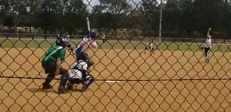 Kimberly Lennard at bat