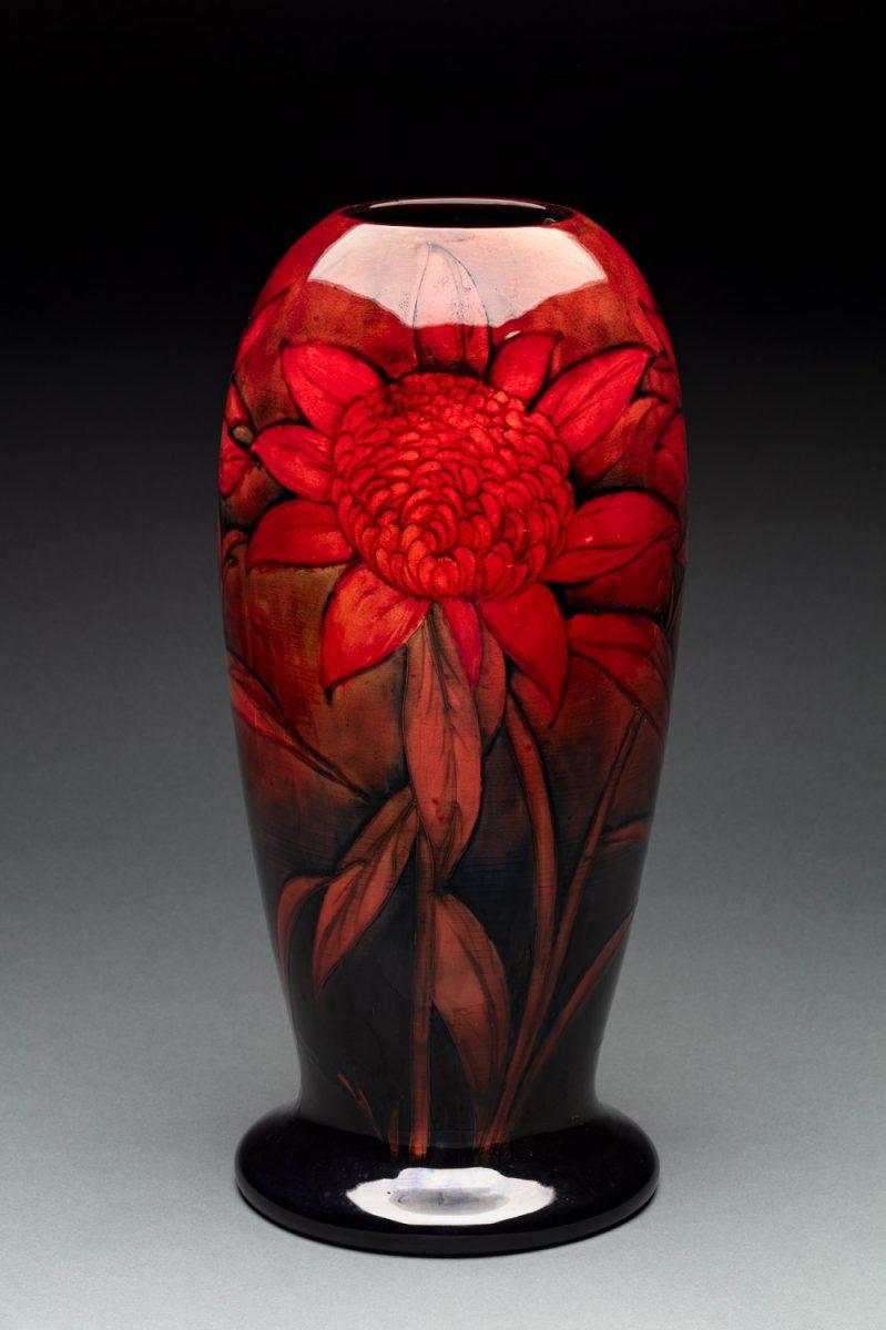 William Moorcroft flambe Waratah Exhibition vase