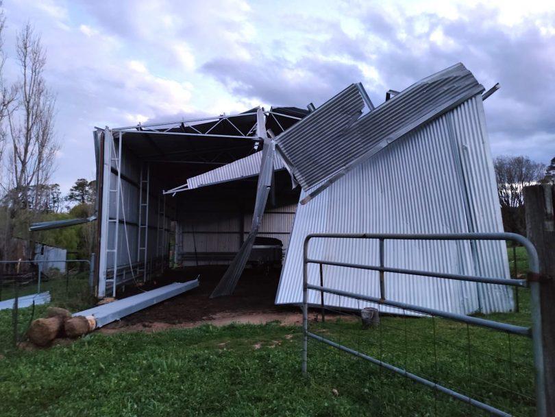 Damage at Tidbinbilla Station