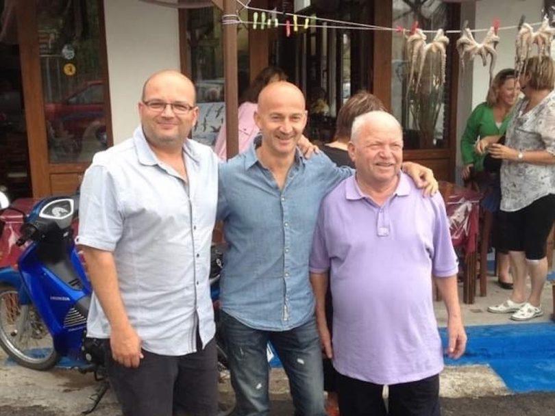Phillip, Paul and George Stamatellis in Lesvos, Greece.