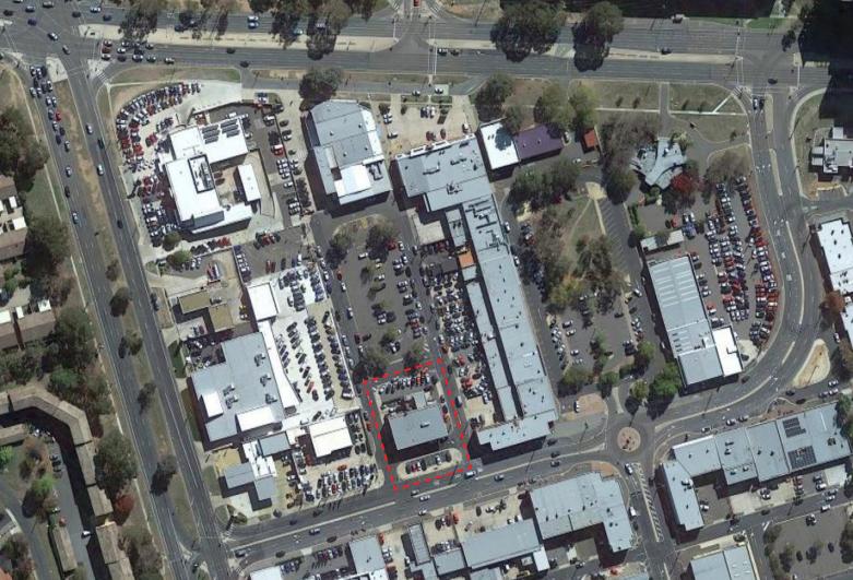 Aerial shot of the Phillip site