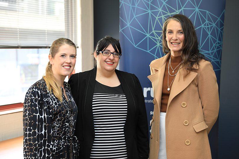 From left: Sheena Ireland, Nadia Pessarossi, Christine Marr.