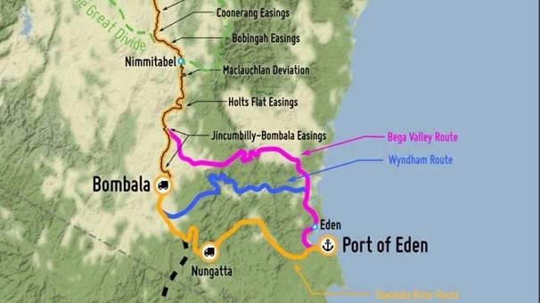 Proposed rail line