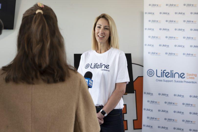 Lifeline Canberra CEO Carrie Leeson