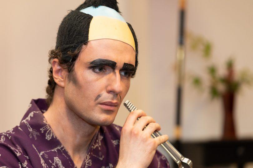 Ac actor with the ANU Za Kabuki theatre