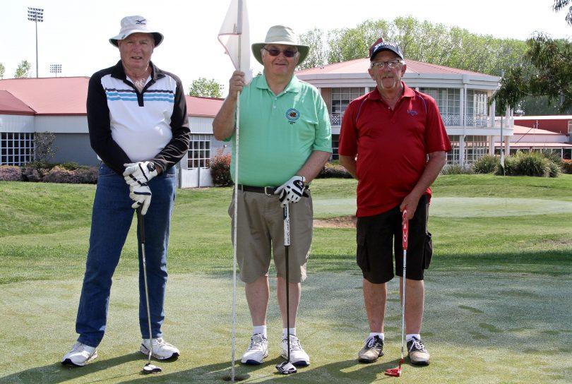 Stuart Campbell, Fred Johnson and Warren Gray