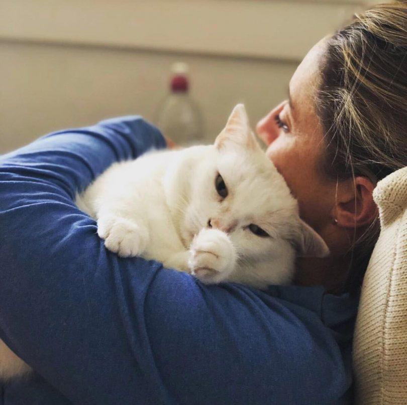 Zoe Pedashenko with Cat.