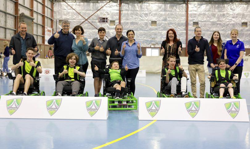 Canberra United's Powerchair football team