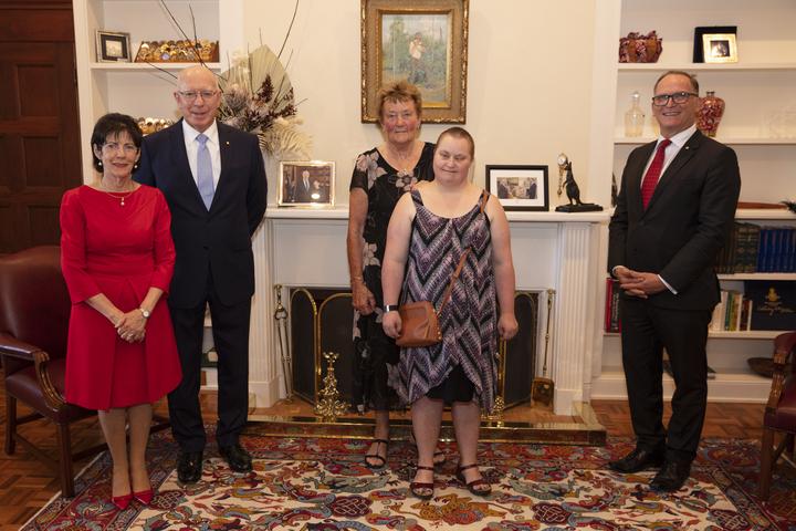 David and Linda Hurley, Kathryn and Leonie Rodwell, and Glenn Keys