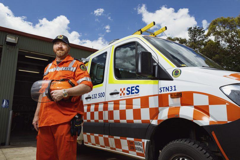 NSW SES Sutton Unit Commander Anthorr Nomchong
