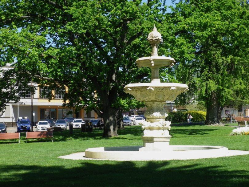 Belmore Park fountain in Goulburn.