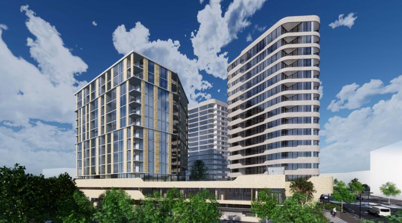 Proposed three-tower development