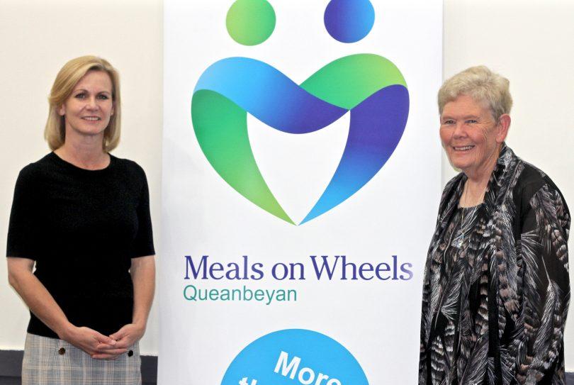 Outgoing president of Queanbeyan Meals on Wheels Nichole Overall and new president Helen DeBritt.