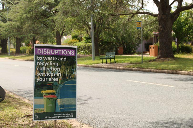 Garbage disruption notice