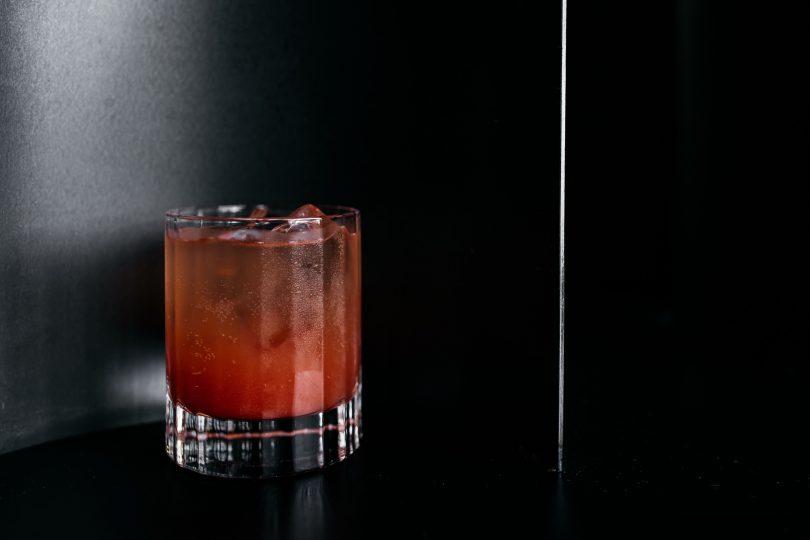 Aubergine non-alcoholic drink