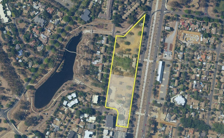 Overlay map showing site for stage three of Northbourne on Lyneham development.