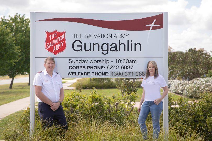 Captain Dominic Wallis and Natalie Tanchevski