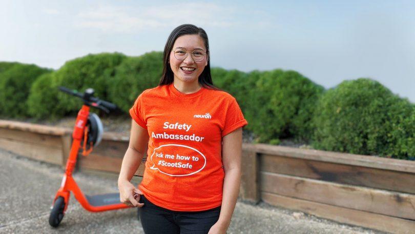 Neuron's ScootSafe Safety Ambassadors are hard to miss