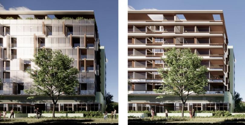 Variety of facades