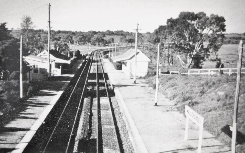 The Wallendbeen railway station