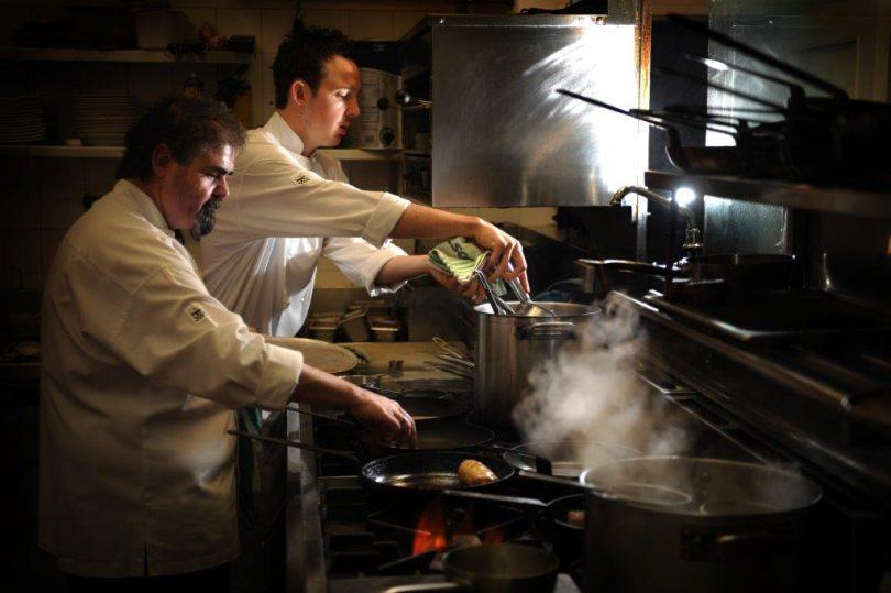 James Mussillon and executive chef Zac Elliott