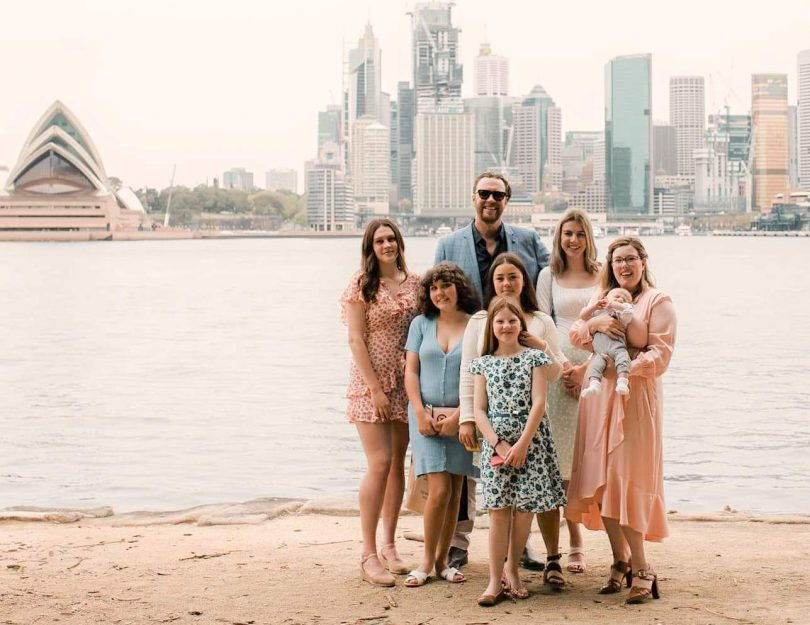 Alexis and her family in Sydney
