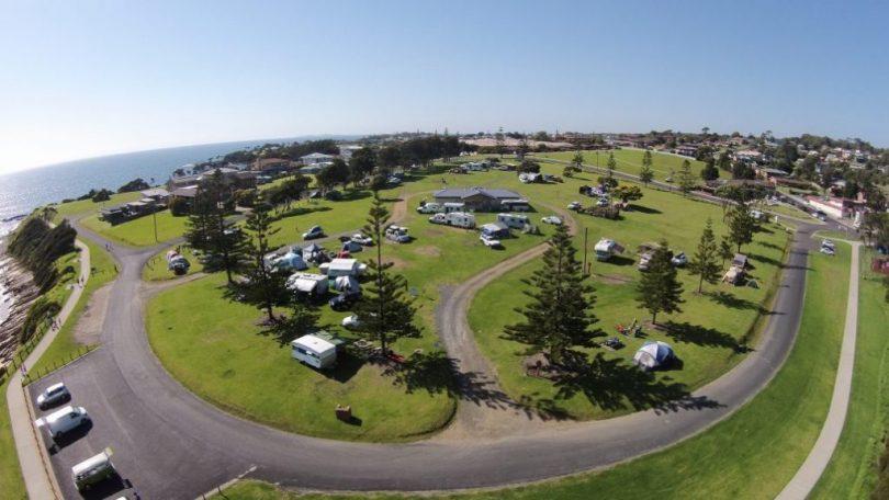 Aerial view of Dalmeny campground.