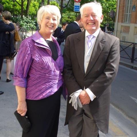 Daphne and David Penalver in Paris.