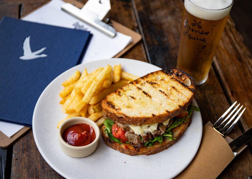 Steak sandwich, Dolly's, Bunda Street