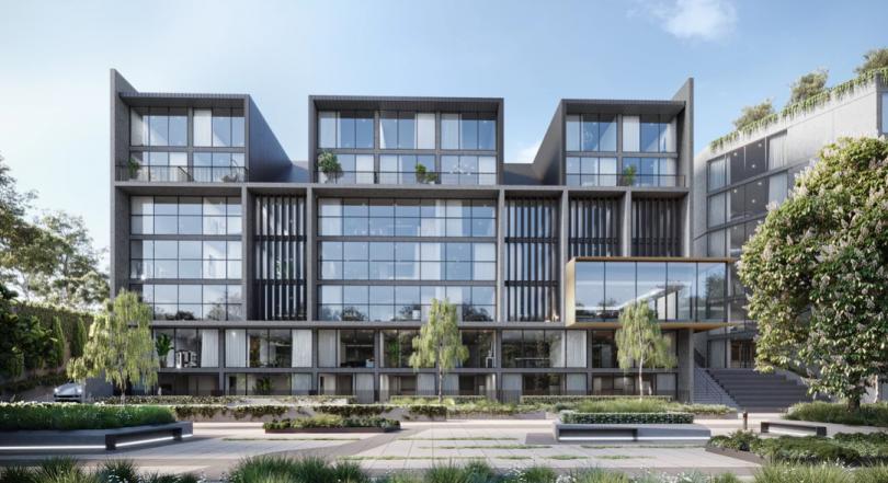 Artist's impression of proposed development of northeast corner of Gungahlin Town Centre.