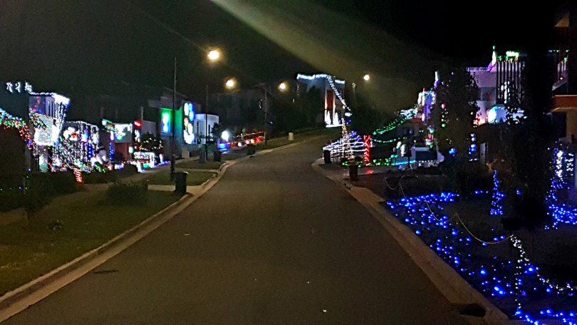 Christmas lights on Hoddy Street