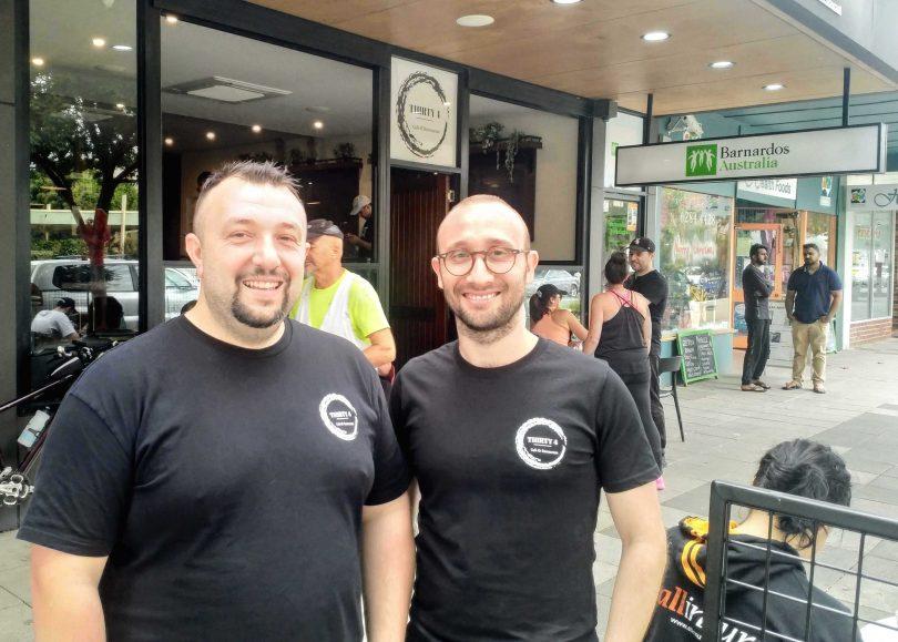 Thirty 4 cafe owners Mert Toplu and Huso Yilmaz