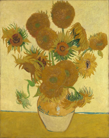 Vincent van Gogh's Sunflowers, 1888.