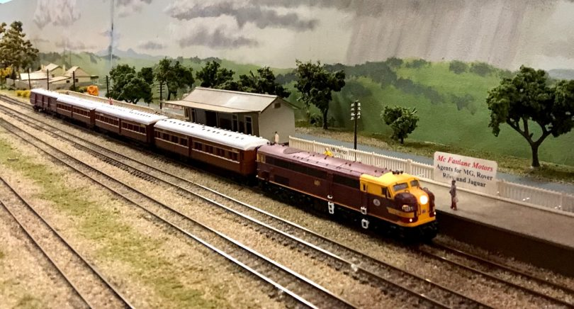 A scale model railway run by the Canberra Monaro N Scale Group.