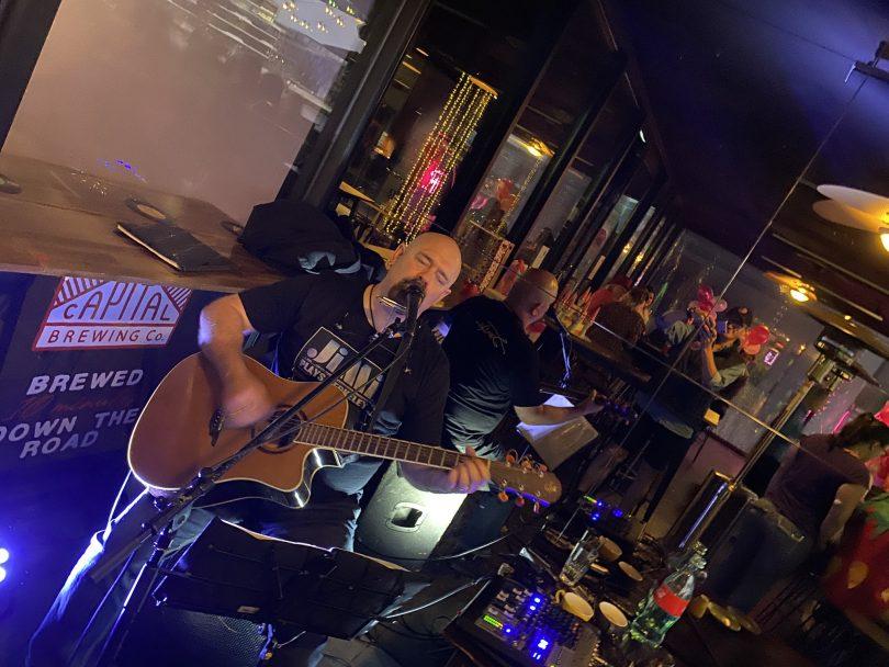 Musicians performing at Magoo's Cafe and Bar at Kingston