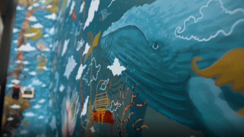 Mural in detail